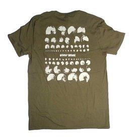 Loophole Wheels Loophole Logo T-shirt - Military Green (size X-Large)
