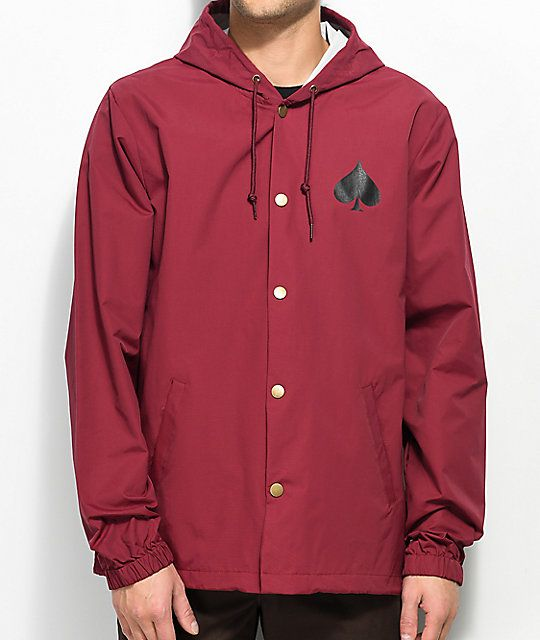 Thrasher Oath jacket - Cardinal (size Medium)