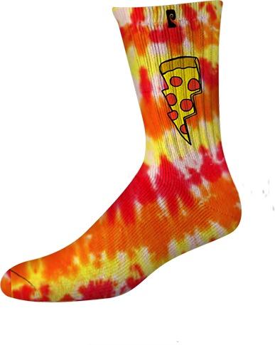 Psockadelic Psockadelic Doughnut Red/Yellow Tie Dye Socks
