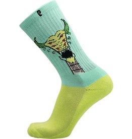 Psockadelic Psockadelic Figgy Tuner Teal/Lime Socks