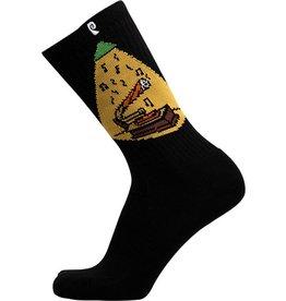 Psockadelic Psockadelic Nuge Vinyl Joint Black Socks