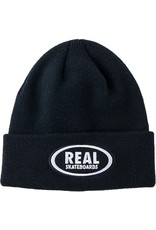 Real Real Oval Cuff Beanie - Black/White