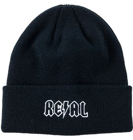 Real Real Deeds Embroidered Cuff Beanie - Black