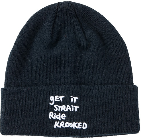 Krooked Krooked Get it Strait Cuff Beanie - Black