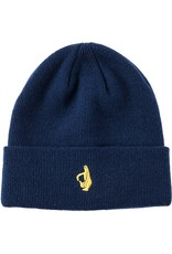 Krooked Krooked Shmolo Embroidered Cuff Beanie - Navy