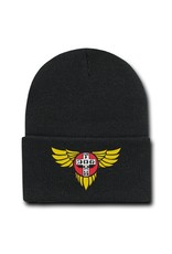 Dogtown embroidered Wings Beanie - Black