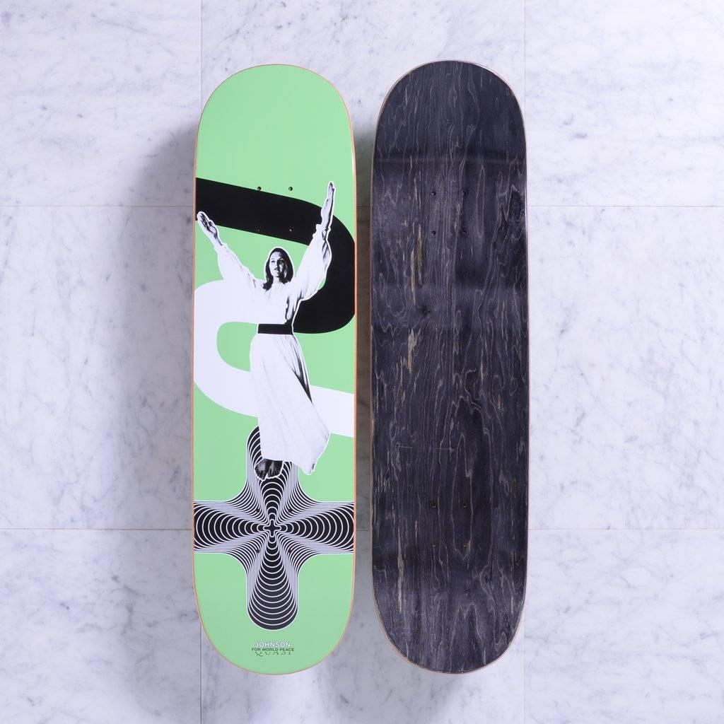 "Quasi Quasi Jake Johnson Peace ""Green"" Deck - 8.5 x 33"