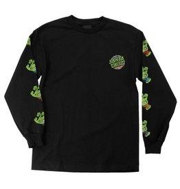 Santa Cruz Santa Cruz x TMNT Sewer Dot Longsleeve T-shirt - Black (size Small)