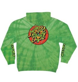 Santa Cruz Santa Cruz x TMNT Turtle Power Pullover Hoodie - Spider Lime (size Small or Medium)