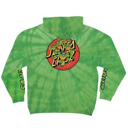 Santa Cruz Santa Cruz x TMNT Turtle Power Pullover Hoodie - Spider Lime