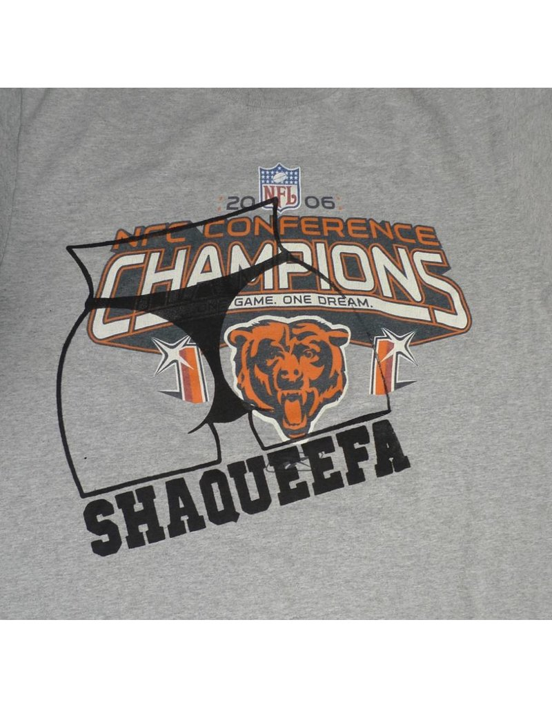 Shaqueefa OG Shaqueefa Chicago Bears 2006 NFC Conference Champions T-shirt - Grey (size Medium)