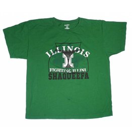Shaqueefa OG Shaqueefa ILLINOIS Fighting Illini T-shirt - Green (size X-Large)