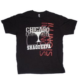 Shaqueefa OG Shaqueefa Chicago Illinois T-shirt - Black/Red/White (size Large)