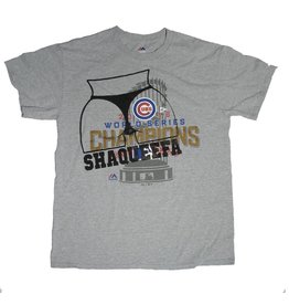 Shaqueefa OG Shaqueefa Chicago Cubs 2016 World Series Champions T-shirt - Grey (size Medium)