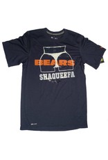 Shaqueefa OG Shaqueefa Chicago Bears Football Dri-Fit T-shirt - Navy (size Small)