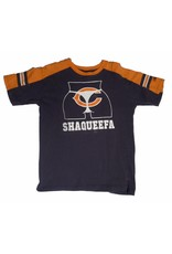 Shaqueefa OG Shaqueefa Chicago Bears Logo Jersey T-shirt - Navy/Orange (Youth X-Large)