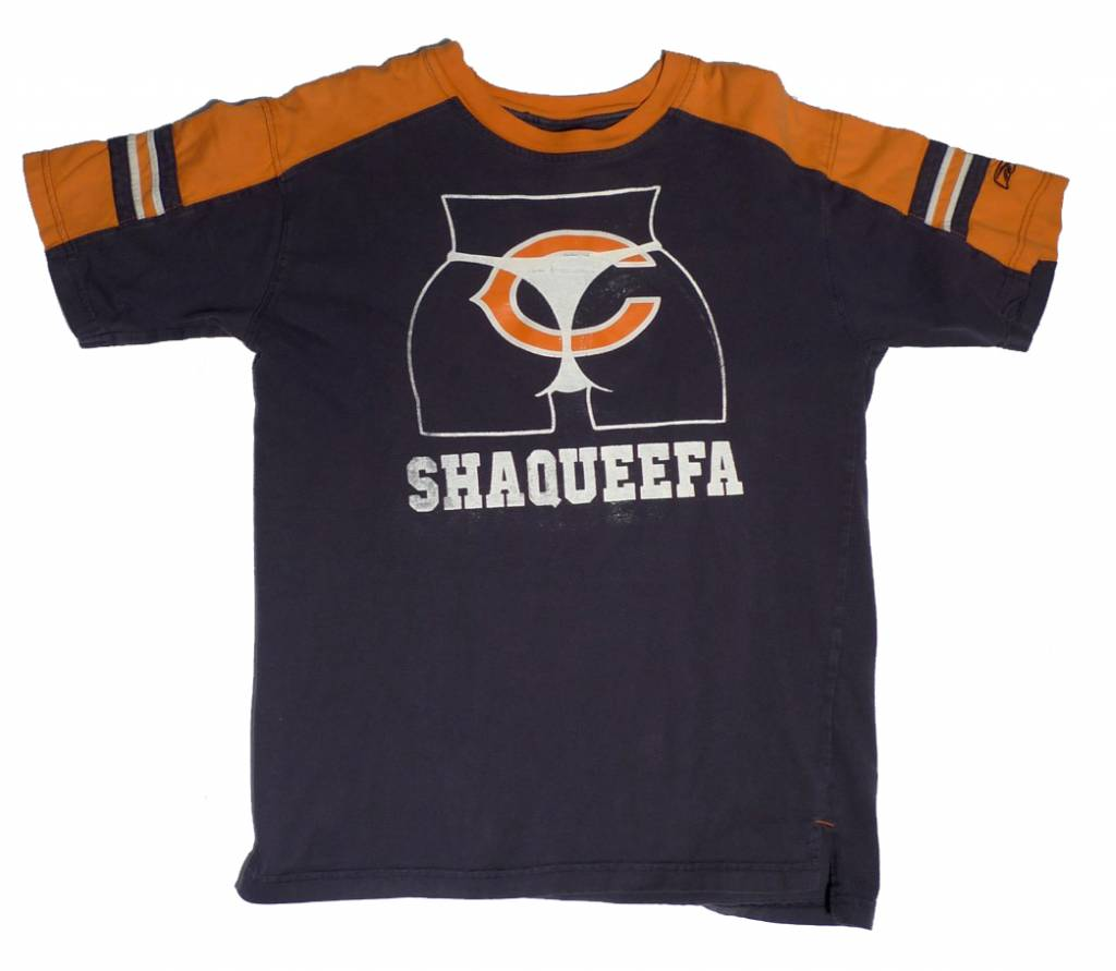 new style a6d34 c9a30 Shaqueefa Chicago Bears Jersey T-shirt - Navy/Orange (Youth X-Large)