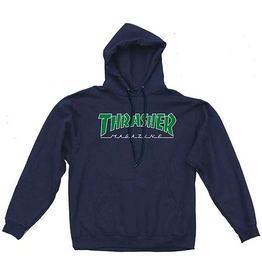 Thrasher Mag Thrasher Outlined Hoodie - Navy