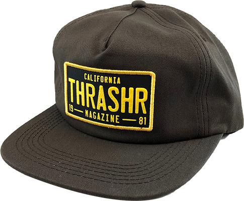 Thrasher Mag Thrasher DMV Snapback Hat - Brown