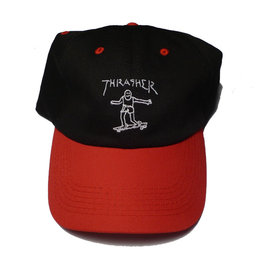 Thrasher Mag Thrasher Gonz Old Timer Hat - Black/Red