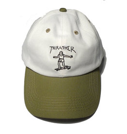 Thrasher Mag Thrasher Gonz Old Timer Hat - White/Olive