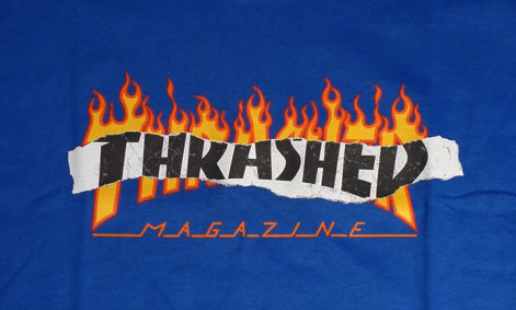 Thrasher Mag Thrasher Ripped T-shirt - Royal Blue