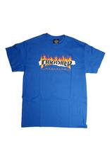 Thrasher Mag Thrasher Ripped T-shirt - Royal Blue (size X-Large)