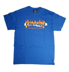 Thrasher Mag Thrasher Ripped T-shirt - Royal Blue (size Large or X-Large)