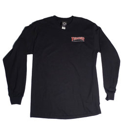 Thrasher Mag Thrasher Embroidered Outlined Lonsleeve T-shirt - Black