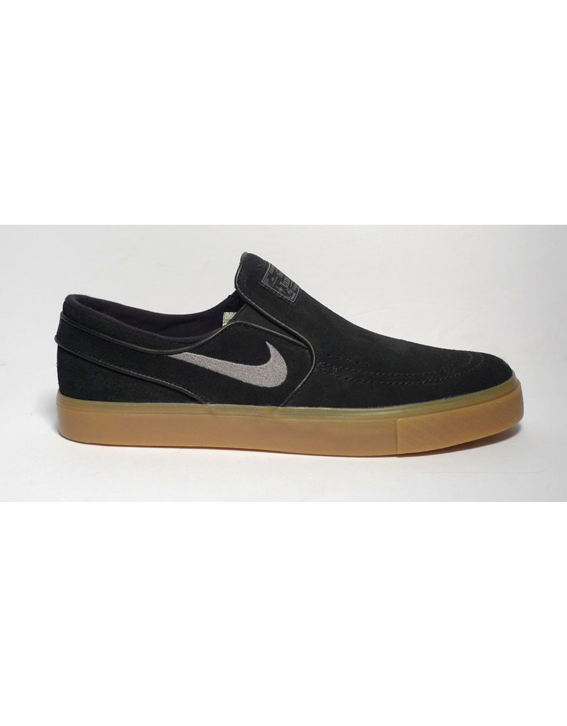 Nike SB Nike sb Stefan Janoski Slip - Black/Gunsmoke-Gum Light Brown  (size 8, 9.5 or 13)