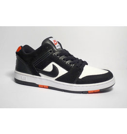Nike sb Air Force II Low - Black/Black-White-Habanero Red (sizes 9.5)