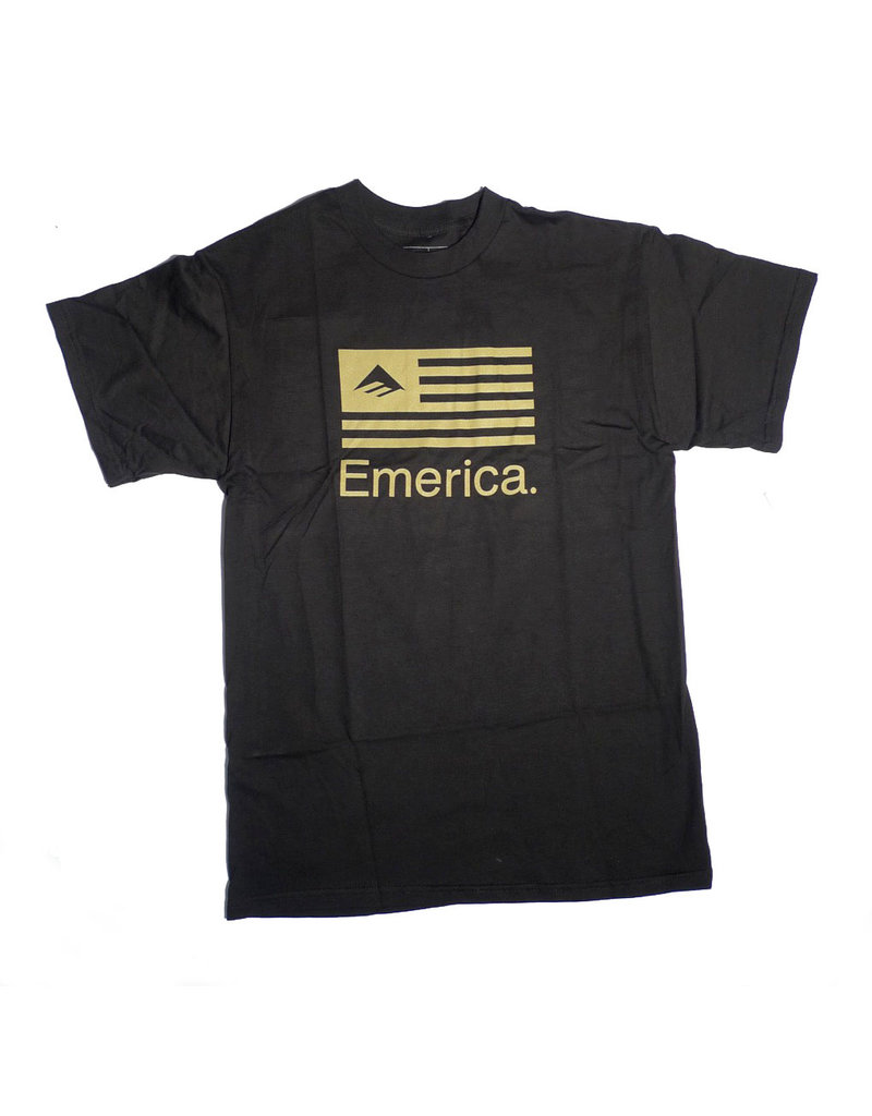 Emerica Emerica Pure Flag T-shirt - Black (size Medium)