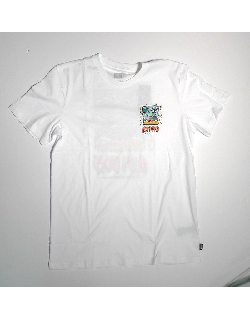 Adidas Adidas Roanoke T-shirt - White/Pyrite (size Large or X-Large)