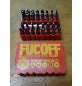 Scumco & Sons Scumco & Sons Fucoff Skatestop Removal Kit - Red