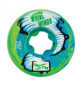 Ricta Ricta Whirlwinds Blue/Green Swirl 53mm 99a Wheels (set of 4)