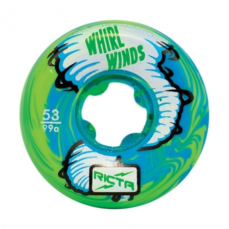Ricta Ricta Whirlwinds Blue/Green Swirl 53mm 99a Wheels (set of 4)