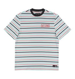 Welcome Welcome Surf Stripe Knit T-shirt - White/Red