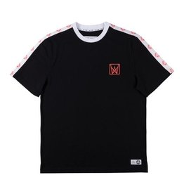 Welcome Welcome Chalice Taped Knit T-shirt - Black/White/Coral