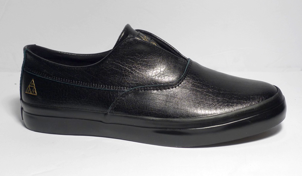Huf Worldwide Huf Dylan Slip On - Black Leather
