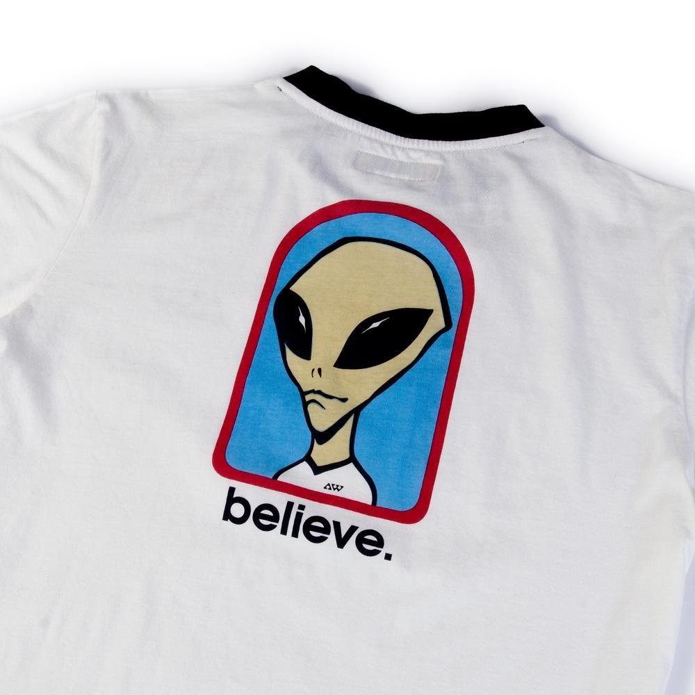 Alien Workshop Alien Workshop Believe Ringer T-shirt - Off White