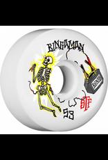 Bones Wheels Bones STF Bingaman Zapped Sidecuts 53mm 103a Wheels (set of 4)