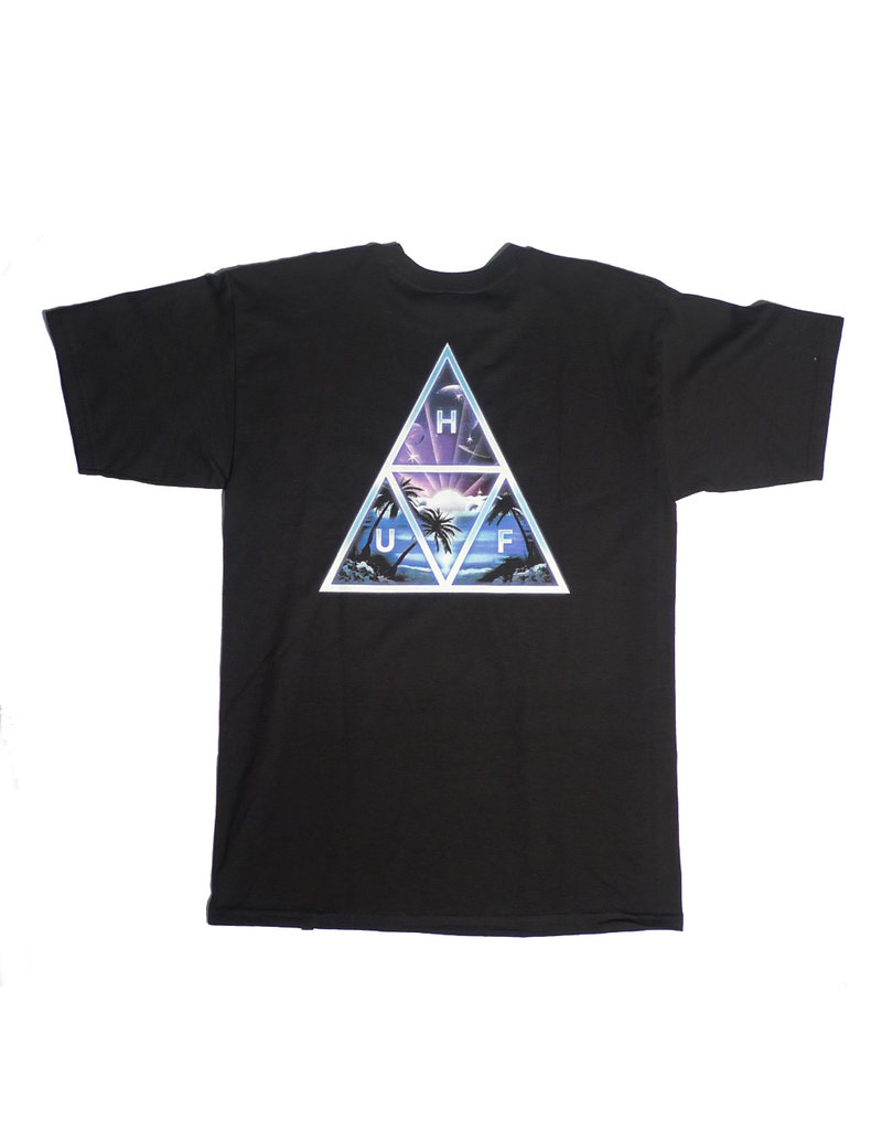 Huf Worldwide Huf Space Beach TT T-shirt - Black (size Large)