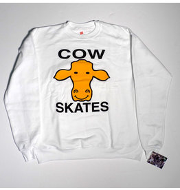 Dear Skating Dear Ohio Cow Skates Crewneck - White