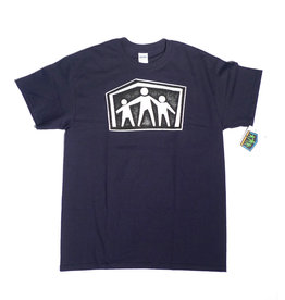 Dear Skating Dear Ohio AWS Shelter Logo T-shirt - Navy Blue