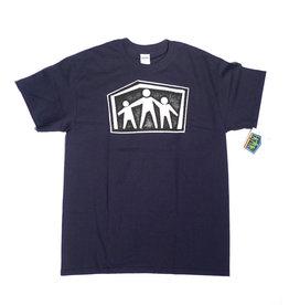 Dear Skating Dear Ohio AWS Shelter Logo T-shirt - Navy Blue