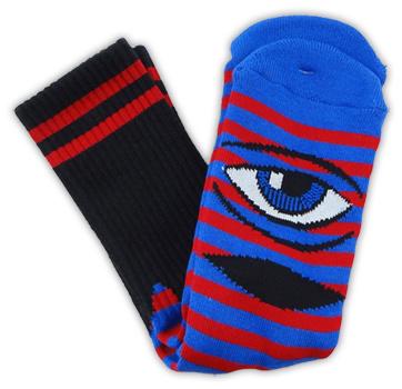 Toy Machine Toy Machine Sect Eye Stripe Red/Blue Socks