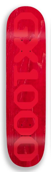 GX1000 GX1000 OG Logo Red Deck - 8.125 x 31.75