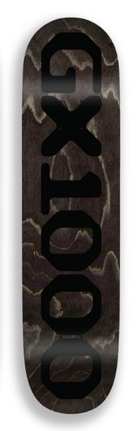 GX1000 GX1000 OG Logo Black Deck - 8.5 x 32.125