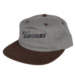 Theories Brand Theories Overlook Snapback Hat - Grey/Dark Brown