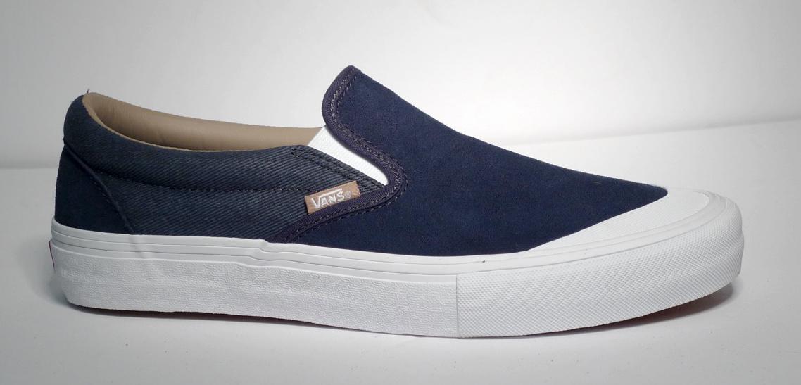 Vans Slip On Pro - (Twill) Dress Blue